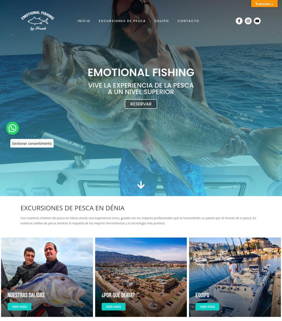 captura de pantalla web emotionalfishing.com