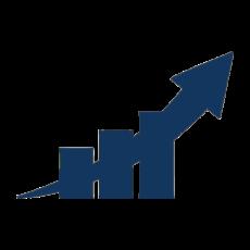 símbolo crecimiento empresa flecha